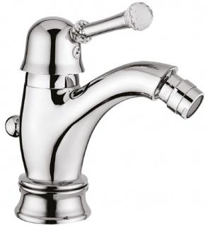 Casa Padrino Luxus Waschtischarmatur mit Swarovski Kristallglas Silber H. 16, 5 cm - Einhand Waschtischbatterie - Luxus Bad Zubehör