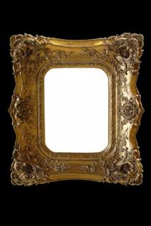 Casa Padrino Barock Wandspiegel Gold mit Doppelrahmen - 71 x 63 cm - Edel & Prunkvoll