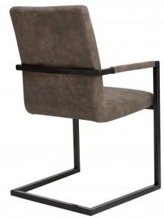 Casa Padrino Designer Freischwinger Stuhl Taupe Grau - Esszimmerstuhl - moderner Wohnzimmerstuhl - Vorschau 2