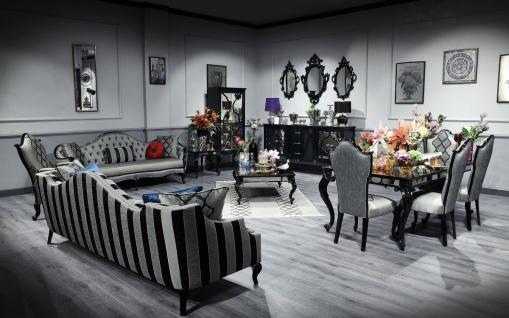 Casa Padrino Luxus Barock Wohnzimmer Set Schwarz / Gold - Prunkvolle Kommode und 3 Wandspiegel - Barock Möbel - Luxus Qualität - Vorschau 3
