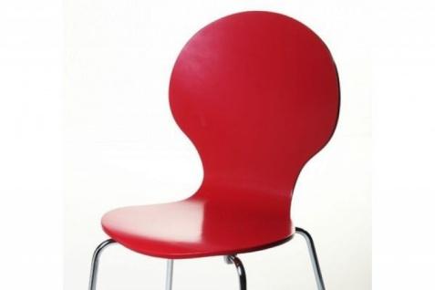 Casa Padrino Designer Stuhl Form Rot 12 - Vorschau 2