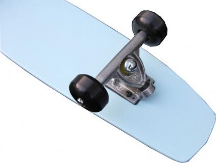 Oldschool Skateboard Cruiser 70s Style Skyblue Mit 125 Randal RII Trucks, 58mm Black Wheels - Longboard Cruiser - Vorschau 4