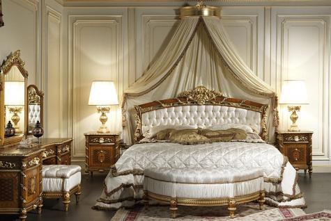 Casa Padrino Luxus Barock Kommode mit Spiegel Braun / Gold - Prunkvoller handgefertigter Schminktisch mit Wandspiegel - Hotel Möbel - Schloss Möbel - Luxus Qualität - Made in Italy - Vorschau 3