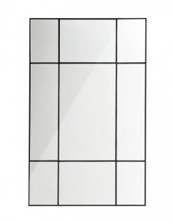 Casa Padrino Designer Luxus Wandspiegel Schwarz 70 x H 110 cm - Außergewöhnliches Design