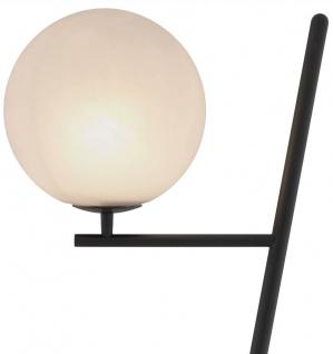 Casa Padrino Luxus Stehleuchte Bronze / Schwarz / Weiß 39 x 30 x H. 159 cm - Moderne Metall Stehlampe mit Marmorfuss und rundem Glas Lampenschirm - Luxus Qualität - Vorschau 5