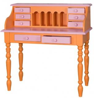 Casa Padrino Landhausstil Schreibtisch Orange / Rosa 109 x 60 x H. 110 cm - Möbel im Landhausstil - Vorschau 2