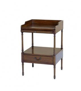 Casa Padrino Luxus Art Deco Designer Eichenholz Beistelltisch 48 x 42 x H. 73 cm - Hotel Tisch Möbel