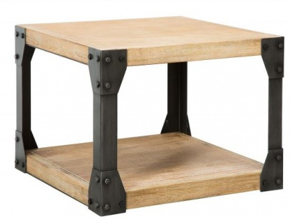 Casa Padrino Designer Beistelltisch Natur Akazie 60 cm x H. 65 cm - Massivholz - Wohnzimmermöbel