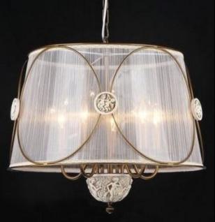 Casa Padrino Barock Decken Kronleuchter Bronze 53 x H 44 cm Antik Stil - Möbel Lüster Leuchter Deckenleuchte Hängelampe