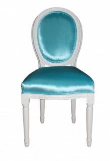 Casa Padrino Barock Esszimmer Stuhl Türkis - Designer Stuhl - Luxus Qualität