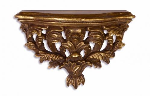 Casa Padrino Barock Wandkonsole Antik Gold 29, 5 x 20, 1 x H.12, 5 - Hotel Möbel