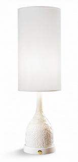 Casa Padrino Luxus Tischleuchte Porzellan Weiß H53 x 17 cm - Luxus Beleuchtung Tischlampe
