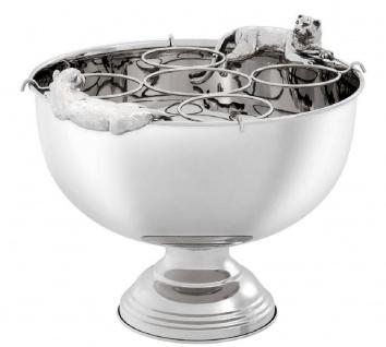 Casa Padrino Luxus Edelstahl Champagnerkühler mit Silber 43, 5 x 39 x H. 33, 5 cm - Hotel & Restaurant Accessoires