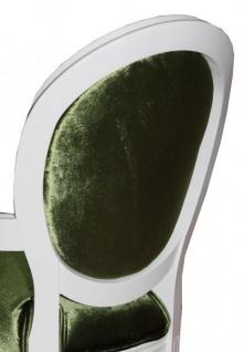 Casa Padrino Barock Esszimmer Stuhl mit Armlehne Grün / Weiß - Designer Stuhl - Luxus Qualität GH - Vorschau 2