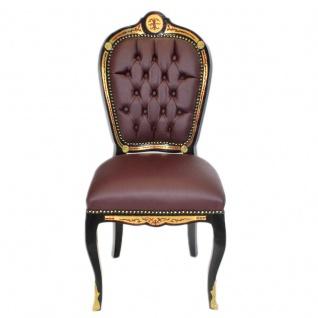 Casa Padrino Luxus Barock Stuhl Boulle Collection - Luxus Schreibtisch Stuhl