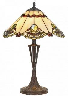Casa Padrino Luxus Tiffany Tischleuchte Mehrfarbig Ø 40 x H. 60 cm - Luxus Qualität - Vorschau