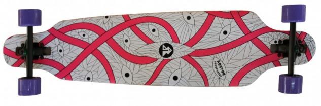 Koston Longboard Drop Through Komplettboard Cruiser Silk Ribbon 40.0 x 9.5 inch - Profi Dropthrough Longboard Drop Thru Carver