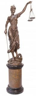 Riesige Casa Padrino Luxus Bronze Figur Justitia 190 cm - Skulptur