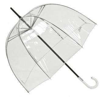 Ausgefallener Jean Paul Gaultier Luxus Designer Damen Regenschirm Transparent Look