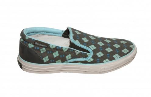 Converse Skateboard Schuhe Skid Grip Ev Slip On Cyan/Olive Slip On shoes