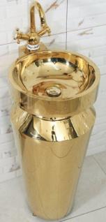 Casa Padrino Luxus Edelstahl Waschtisch Gold 40 x H. 86 cm - Goldene Badezimmer Möbel - Hotel & Restaurant Kollektion - Luxus Qualität