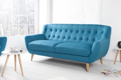 Chesterfield 3er Sofa blau aus dem Hause Casa Padrino - Wohnzimmer Möbel - Couch
