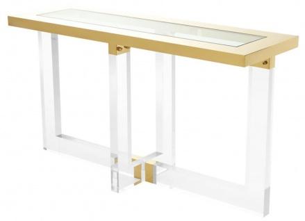 Casa Padrino Konsole / Konsolentisch Gold 140 x 45 x H. 78 cm - Luxus Möbel