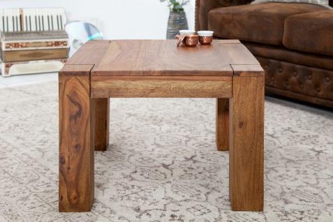 Casa Padrino Designer Massivholz Couchtisch Natur 60 x H. 40 cm - Massivholz - Salon Wohnzimmer Tisch - Vorschau 2