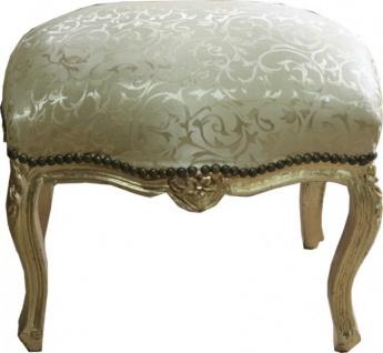 Casa Padrino Barock Fußhocker Gold Muster / Gold Medium