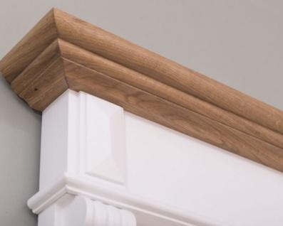 Casa Padrino Landhausstil Badezimmer Set Weiß / Naturfarben - 1 Waschtisch & 1 Wandspiegel - Massivholz Badezimmer Möbel im Landhausstil - Vorschau 5