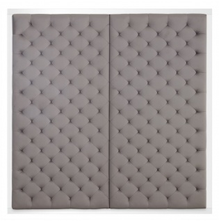 Casa Padrino Designer Bett-Kopfteil Silber-Grau 180 x H. 180 cm - Luxus Qualität