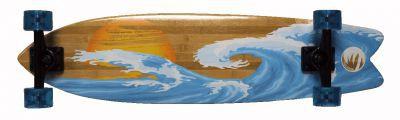 Paradise Bamboo Sunset Wave Freestyle Komplett Longboard Komplettboard mit Koston Kugellagern