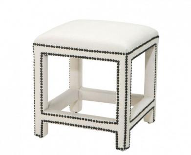 Casa Padrino Luxus Hocker Weiß 47 x 47 x H. 52, 5 cm - Luxus Möbel