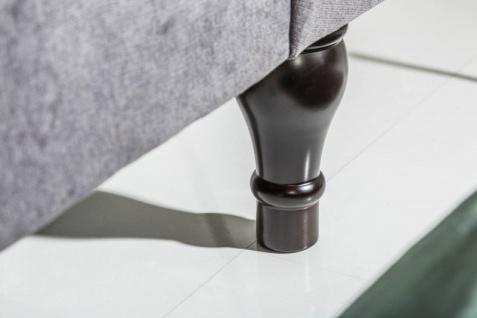 Casa Padrino Chesterfield Sofa in Grau 230 x 90 x H. 80 cm - Designer Chesterfield Sofa - Vorschau 4