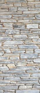 Tür 2.0 XXL Wallpaper für Türen 20029 Mosel Steine Mauer - selbstklebend- Blickfang für Ihr zu Hause - Tür Aufkleber Tapete Fototapete FotoTür 2.0 XXL Vintage Antik Stil Retro Wallpaper Fototapete - Vorschau 2