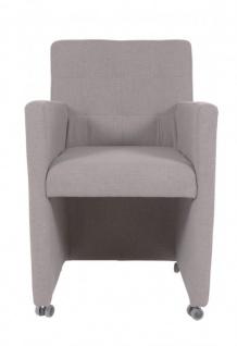 Casa Padrino Designer Esszimmer Stuhl / Sessel ModEF 319 Grau - Hoteleinrichtung - Rollbar - Vorschau 3