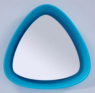 Casa Padrino Luxus Designer Spiegel Blau 64 x H. 63 cm - Designer Wandspiegel mit Licht