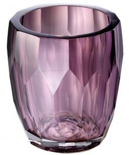 Casa Padrino Luxus Deko Glas Vase Lila Ø 12 x H. 14 cm - Luxus Qualität - Vorschau 2