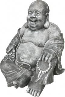 Casa Padrino Luxus Deko Skulptur Buddha Dunkelgrau 65 x 55 x H. 60 cm - Limited Edition