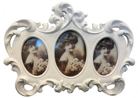 Casa Padrino Barock 3er Bilderrahmen Weiß 23 x 2 x H. 17 cm - Barock Deko Accessoires
