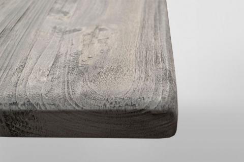 Casa Padrino Landhaus Couchtisch Eiche Rustic Grey 140 x 80 cm- Barock Stil Salon Wohnzimmer Tisch Eiche Massiv - Vorschau 3