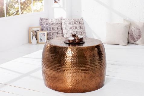 Casa Padrino Luxus Couchtisch Kupfer 60 cm Aluminium - Wohnzimmer Salon Tisch - Unikat - Vorschau 3