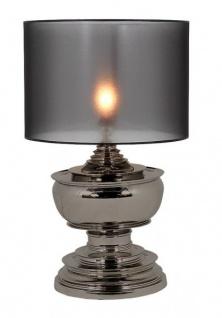Casa Padrino Luxus Tischleuchte Schwarz Nickel Durchmesser 35 x 50 x H 80 cm - Luxus Leuchte - Vorschau