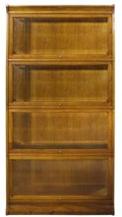 Casa Padrino Luxus Bücherschrank mit 4 Glastüren und LED Beleuchtung Hellbraun 90 x 39 x H. 182 cm - Büroschrank - Vorschau 3