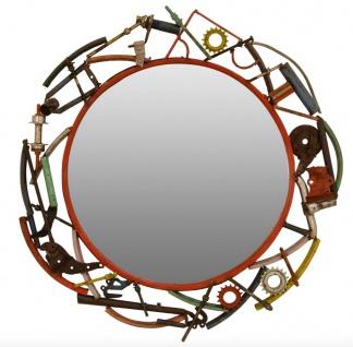 Casa Padrino Designer Wandspiegel Durchmesser 83 cm - Designer Wohnzimmer Accessoires