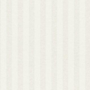 Casa Padrino Barock Textiltapete Creme / Weiß 10, 05 x 0, 53 m - Barock Tapete mit Streifen