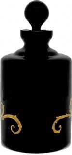 Pompöös by Casa Padrino Luxus Whisky Karaffe mit 24 Karat Vergoldung Schwarz / Gold Ø 12, 5 x H. 25 cm - Pompööse Glas Karaffe designed by Harald Glööckler - Vorschau 3