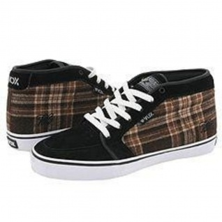 Vox Skateboard Schuhe Vato Pro Black Suede / Black Coffee Fabric