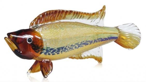 Casa Padrino Skulptur Fisch - Handarbeit aus Glas - Figur Einrichtung