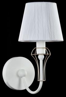 Casa Padrino Jugendstil Wandleuchte Weiß / Gold 15 x 24 x H. 30 cm - Jugendstil Wandlampe - Vorschau 3